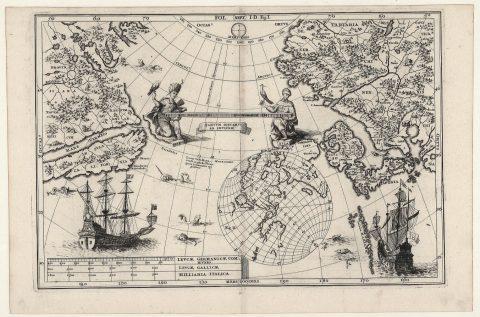 シェーラー「アジアとアメリカとの距離を示した地図」