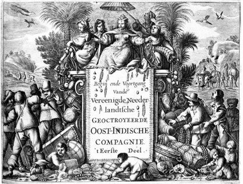 コメリン『東インド会社の起源と発展』扉絵
