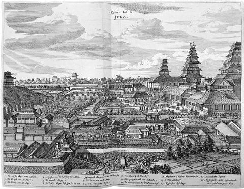 モンターヌス「江戸城図」