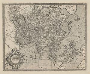 メルカトル作のアジア図
