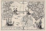 シェーラー作のアジアとアメリカとの距離を示した地図